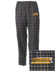St Joseph Parish Milford Embroidered Men's Button-Fly Collegiate Flannel Pant
