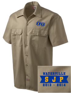 St Joseph Parish Waterville Embroidered Dickies Men's Short-Sleeve Workshirt