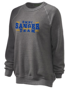 St Katherine Parish (Del Rey) Sanger Unisex Alternative Eco-Fleece Raglan Sweatshirt