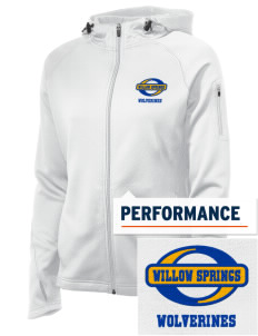 Willow Springs Elementary School Wolverines Embroidered Women's Tech Fleece Full-Zip Hooded Jacket