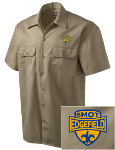 St Mary of The Immaculate Conception Par Edgefield Embroidered Dickies Men's Short-Sleeve Workshirt