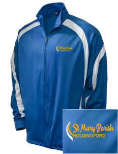 St Mary Parish Holdingford Embroidered Holloway Men's Tricotex Warm Up Jacket
