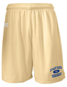 "St Mary Parish Shenandoah  Russell Men's Mesh Shorts, 7"" Inseam"