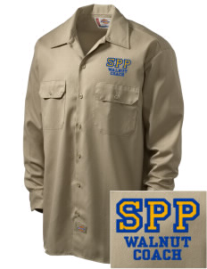 St Patrick Parish Walnut Embroidered Dickies Men's Long-Sleeve Workshirt
