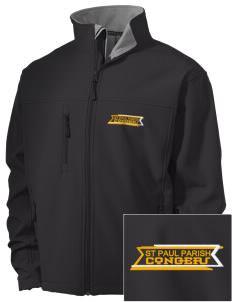 St Paul Parish Congers Embroidered Men's Soft Shell Jacket