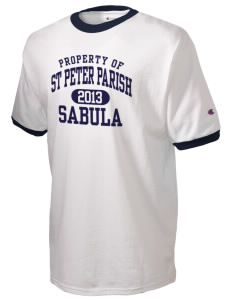 St Peter Parish Sabula Champion Men's Ringer T-Shirt