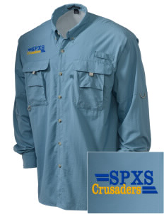 St. Pius X School Crusaders Embroidered Men's Explorer Shirt with Pockets
