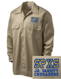 St. Pius X School Crusaders Embroidered Dickies Men's Long-Sleeve Workshirt