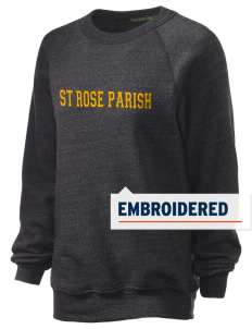 St Rose Parish Cleveland Embroidered Unisex Alternative Eco-Fleece Raglan Sweatshirt