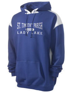 St. Timothy Parish School Lady Lake Men's Pullover Hooded Sweatshirt with Contrast Color