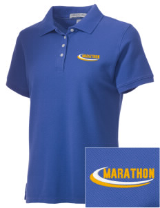 St. Stehpen's Church Marathon Embroidered Women's Performance Plus Pique Polo