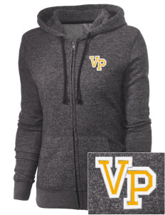 Visitation Parish Bronx Embroidered Women's Marled Full-Zip Hooded Sweatshirt