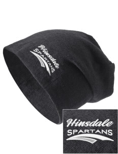 Hinsdale Middle School Spartans Embroidered Slouch Beanie
