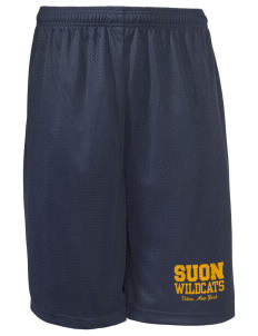 "State University of New York Utica Wildcats Long Mesh Shorts, 9"" Inseam"