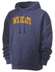 State University of New York Utica Wildcats Men's 80/20 Pigment Dyed Hooded Sweatshirt