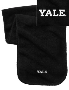 Yale University Bulldogs Embroidered Fleece Scarf