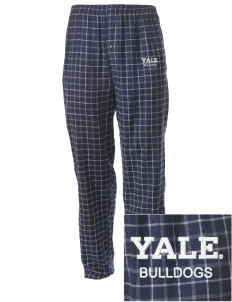 Yale University Bulldogs Embroidered Men's Button-Fly Collegiate Flannel Pant