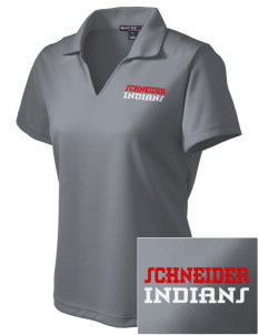 Schneider Elementary School Indians Embroidered Women's Dri Mesh Polo