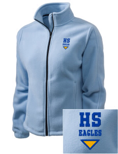 Hawthorn Elementary School South Eagles Embroidered Women's Fleece Full-Zip Jacket
