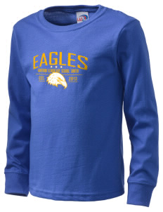 Hawthorn Elementary School South Eagles  Kid's Long Sleeve T-Shirt