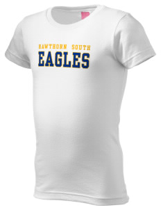 Hawthorn Elementary School South Eagles  Girl's Fine Jersey Longer Length T-Shirt