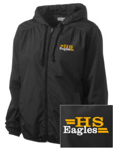 Hawthorn Elementary School South Eagles Embroidered Women's Hooded Essential Jacket