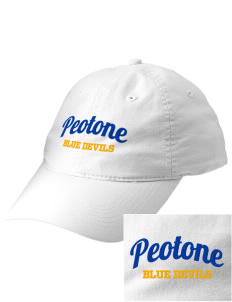 Peotone High School Blue Devils Embroidered Vintage Adjustable Cap