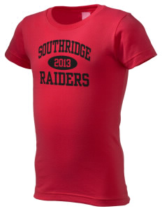 Southridge Middle School Raiders  Girl's Fine Jersey Longer Length T-Shirt