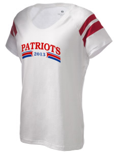 Justice Thurgood Marshall Middle School Patriots Holloway Women's Shout Bi-Color T-Shirt