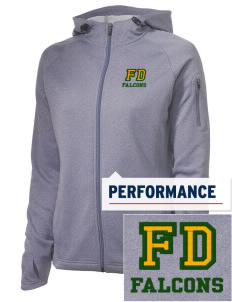 Forest Dale Elementary School Falcons Embroidered Women's Tech Fleece Full-Zip Hooded Jacket