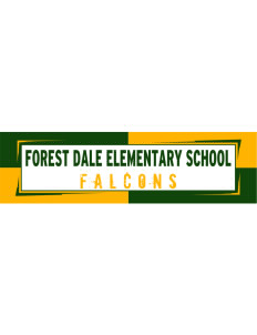 "Forest Dale Elementary School Falcons Bumper Sticker 11"" x 3"""