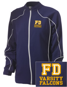 Forest Dale Elementary School Falcons Embroidered Russell Women's Full Zip Jacket
