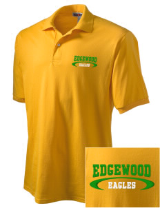 Edgewood Elementary School Eagles Embroidered Men's Jersey Polo