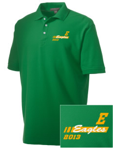 Edgewood Elementary School Eagles Embroidered Men's Performance Plus Pique Polo