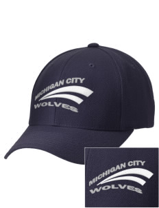 Michigan City Junior High School Wolves Embroidered Wool Adjustable Cap
