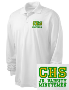 Concord High School Minutemen Embroidered Men's Long Sleeve Micropique Sport-Wick Sport Shirt
