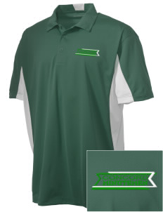 Concord High School Minutemen Embroidered Men's Side Blocked Micro Pique Polo