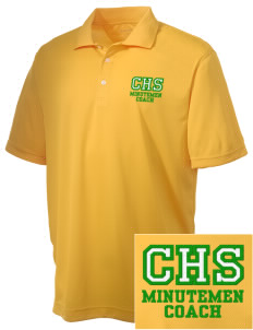 Concord High School Minutemen Embroidered Men's Double Mesh Polo