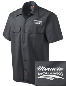 Moravia Elementary School Mohawks Embroidered Dickies Men's Short-Sleeve Workshirt