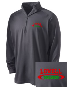 Lowell Elementary School Toreadors Embroidered Men's Stretched Half Zip Pullover