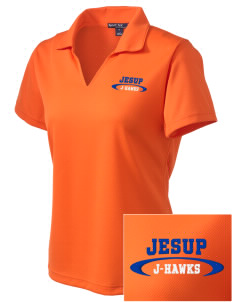 Jesup High School J-Hawks Embroidered Women's Dri Mesh Polo
