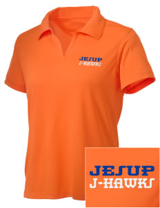 Jesup High School J-Hawks Embroidered Women's Double Mesh Polo