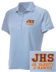 Jesup High School J-Hawks Embroidered Women's Polytech Mesh Insert Polo