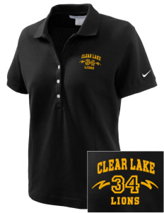 Clear Lake High School Lions Embroidered Nike Women's Pique Golf Polo