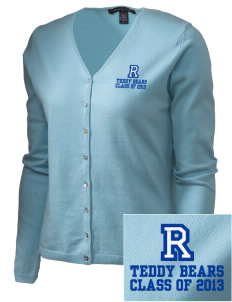 Roosevelt Elementary School Teddy Bears Embroidered Women's Stretch Cardigan Sweater