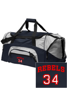 Sioux Central Junior High School Rebels Embroidered Colorblock Duffel Bag