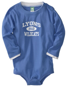 Lyons Middle School Wildcats  Baby Long Sleeve 1-Piece with Shoulder Snaps