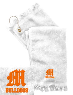 Mediapolis Middle School Bulldogs  Embroidered Grommeted Finger Tip Towel