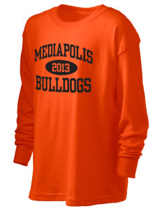 Mediapolis Middle School Bulldogs Kid's 6.1 oz Long Sleeve Ultra Cotton T-Shirt