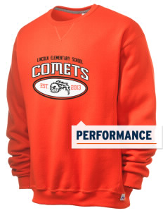 Lincoln Elementary School Comets  Russell Men's Dri-Power Crewneck Sweatshirt